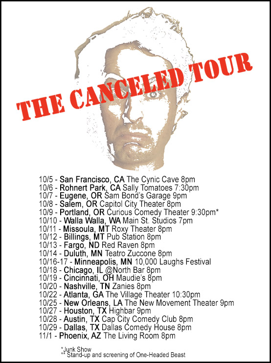 Canceled Tour Poster